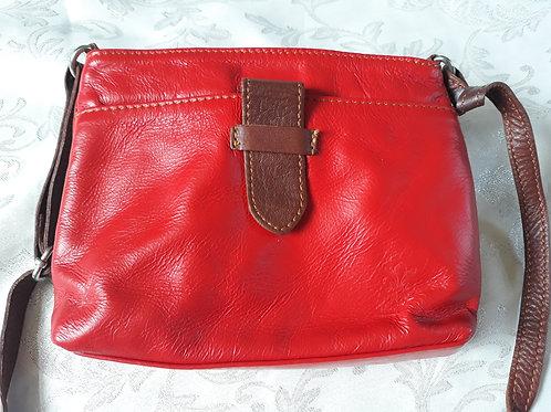 Italian Leather sq.w.tb bag (Red)