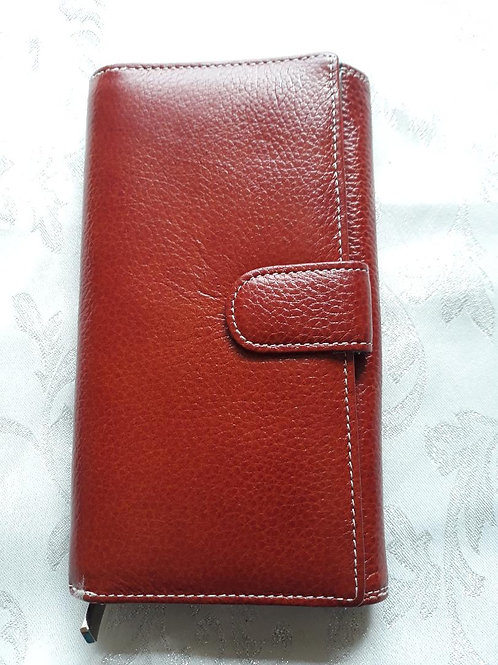 Long Purse Italian Leather (Chestnut)