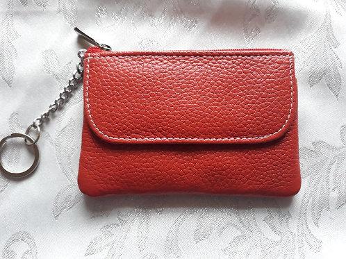 Italian Leather Card Purse (Burnt Orange)