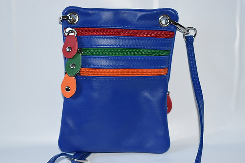 Zip Purse Leather bag (Blue)
