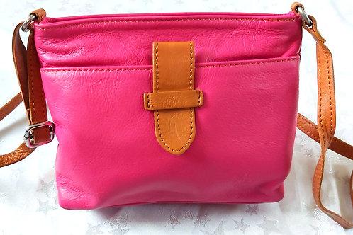Italian Leather sq.w.tb bag (Pink)