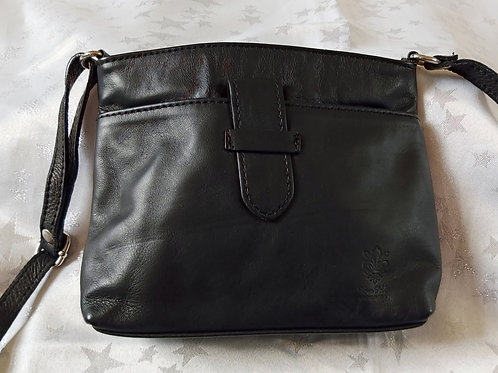 Italian Leather sq.w.tb bag (Black)