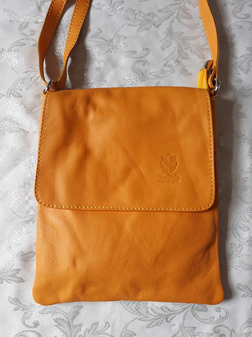 Large Flap Leather bag (Yellow)