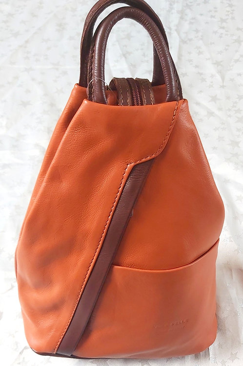 Leather Rucksack ( Tan and Brown)