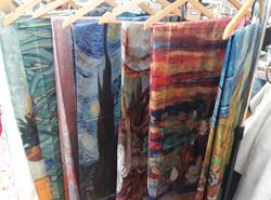 Famous Artist print scarves