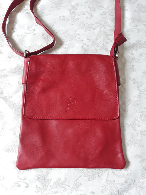 Large Flap Leather bag (Red)