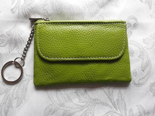 Italian Leather Card Purse (Lime Green)