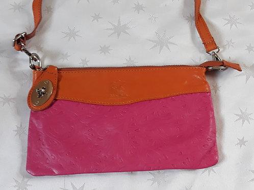 N.S.Embossed leather bag (Pink)