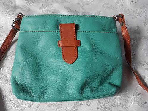 Italian Leather sq.w.tb bag (Aqua)