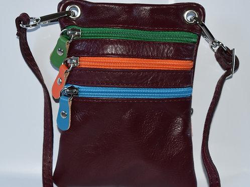 Zip Purse Leather bag (Burgundy)