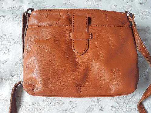 Italian Leather sq.w.tb bag (Tan)