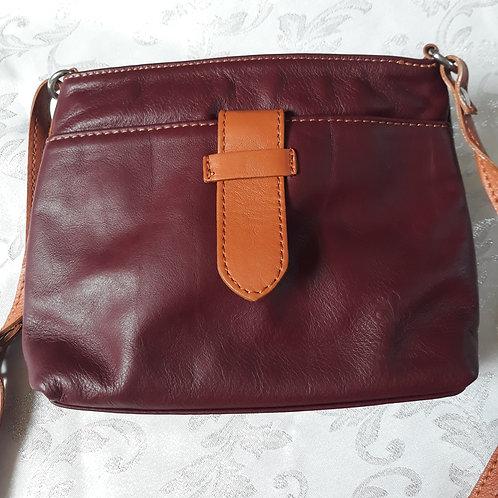 Italian Leather sq.w.tb bag (Burgundy)