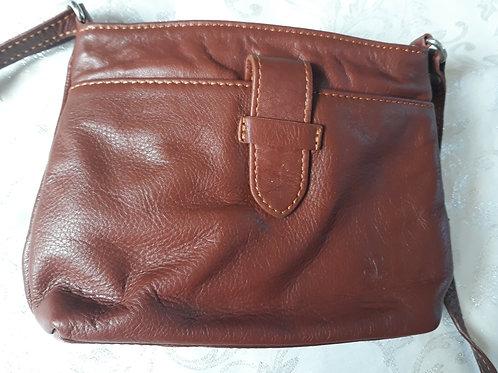 Italian Leather sq.w.tb bag (Chestnut)