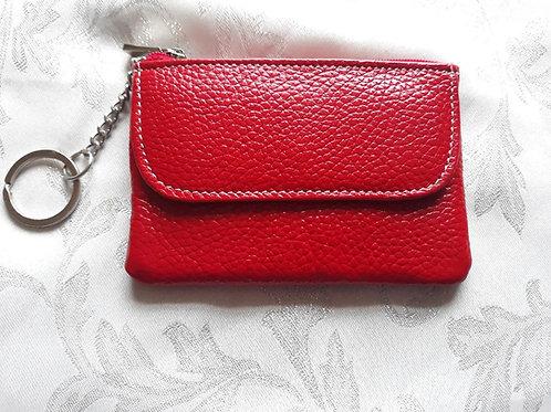 Italian Leather Card Purse (Red)