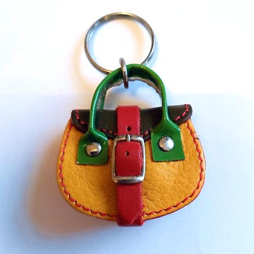 Mini Owl Bag Leather Keyring