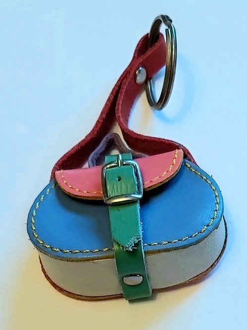 Mini Handbag Leather Keyring