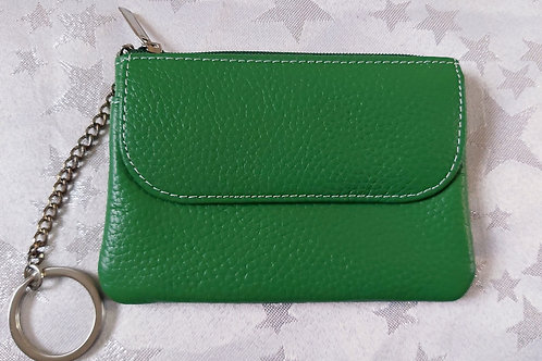 Italian Leather Card Purse (Green)