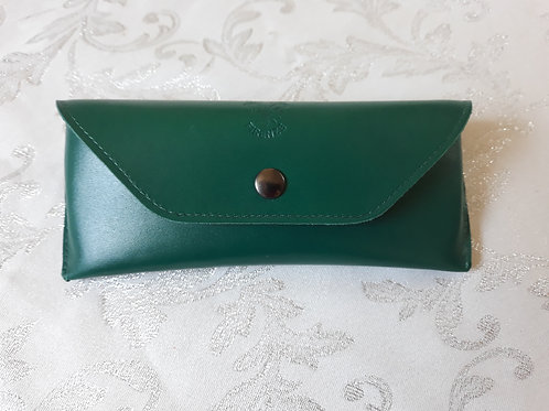 Leather Glasses Case (Green)