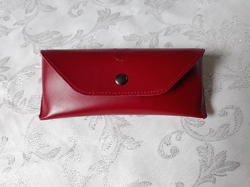 Leather Glasses case (Red)