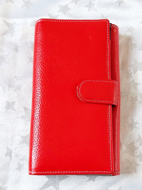 Large Italian Leather Purse (Red)