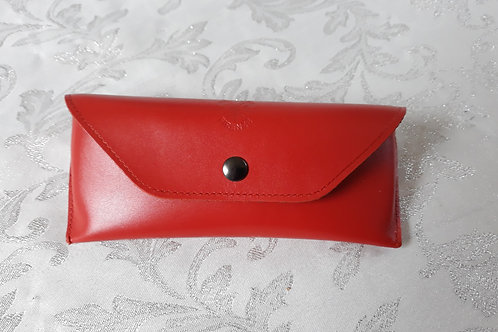 Leather Glasses case (Orange)