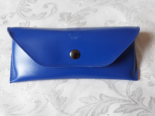 Leather Glasses Case (Blue)