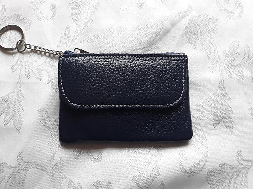 Italian Leather Card Purse (Navy)
