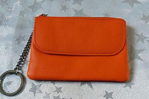 Italian Leather Card Purse (Orange)