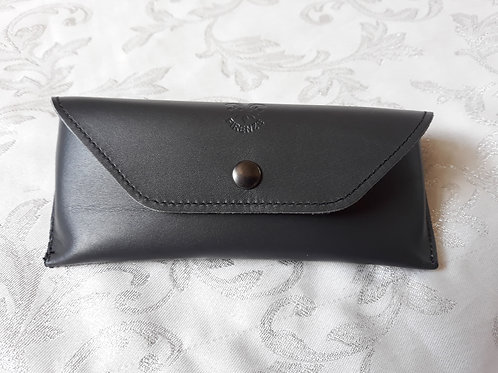 Leather Glasses case (Grey)