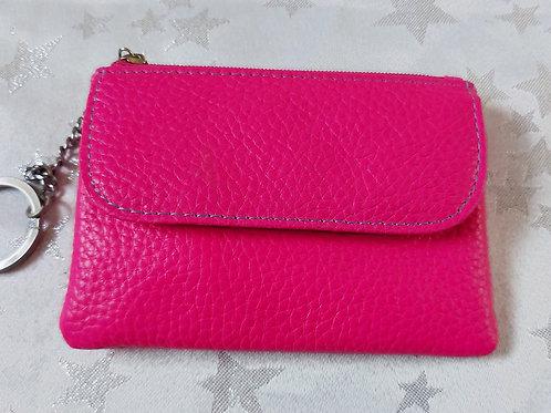 Italian Leather Card Purse (Pink)