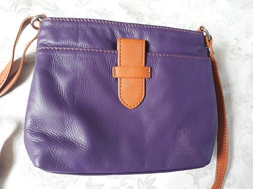 Italian Leather sq.w.tb bag (Purple)