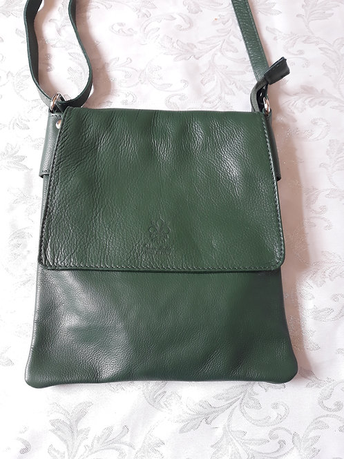Large Flap Leather bag (Green)