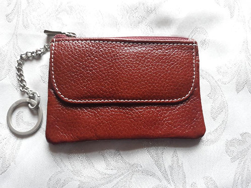 Italian Leather Card Purse (Chestnut)