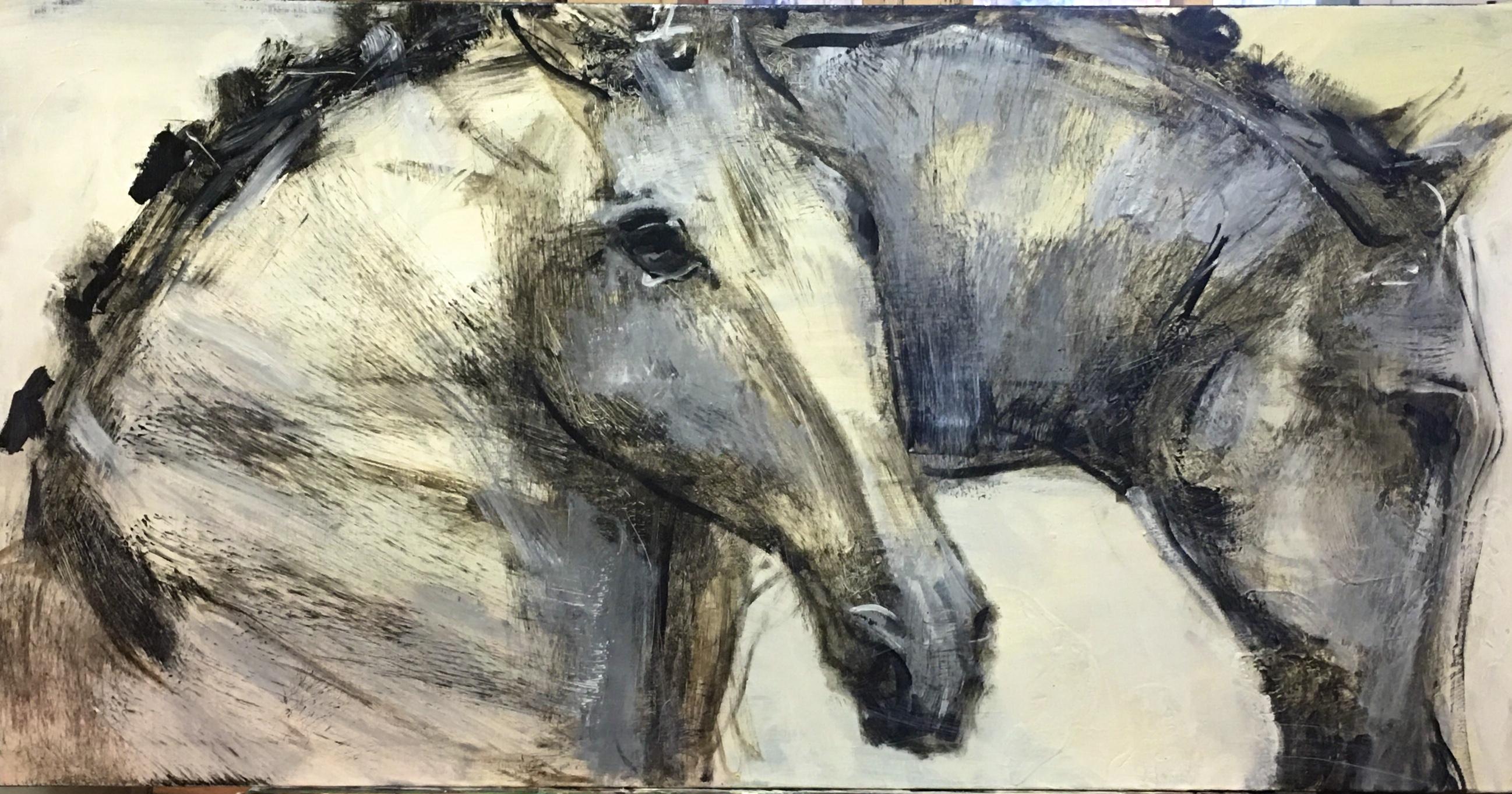 DA VINCIS HORSES 24 X 48  inches