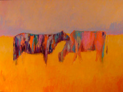 """Two in the field - 36"""" x 48"""""""