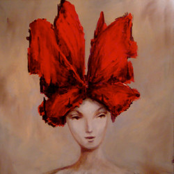 "Red bow - 36"" x 36"""