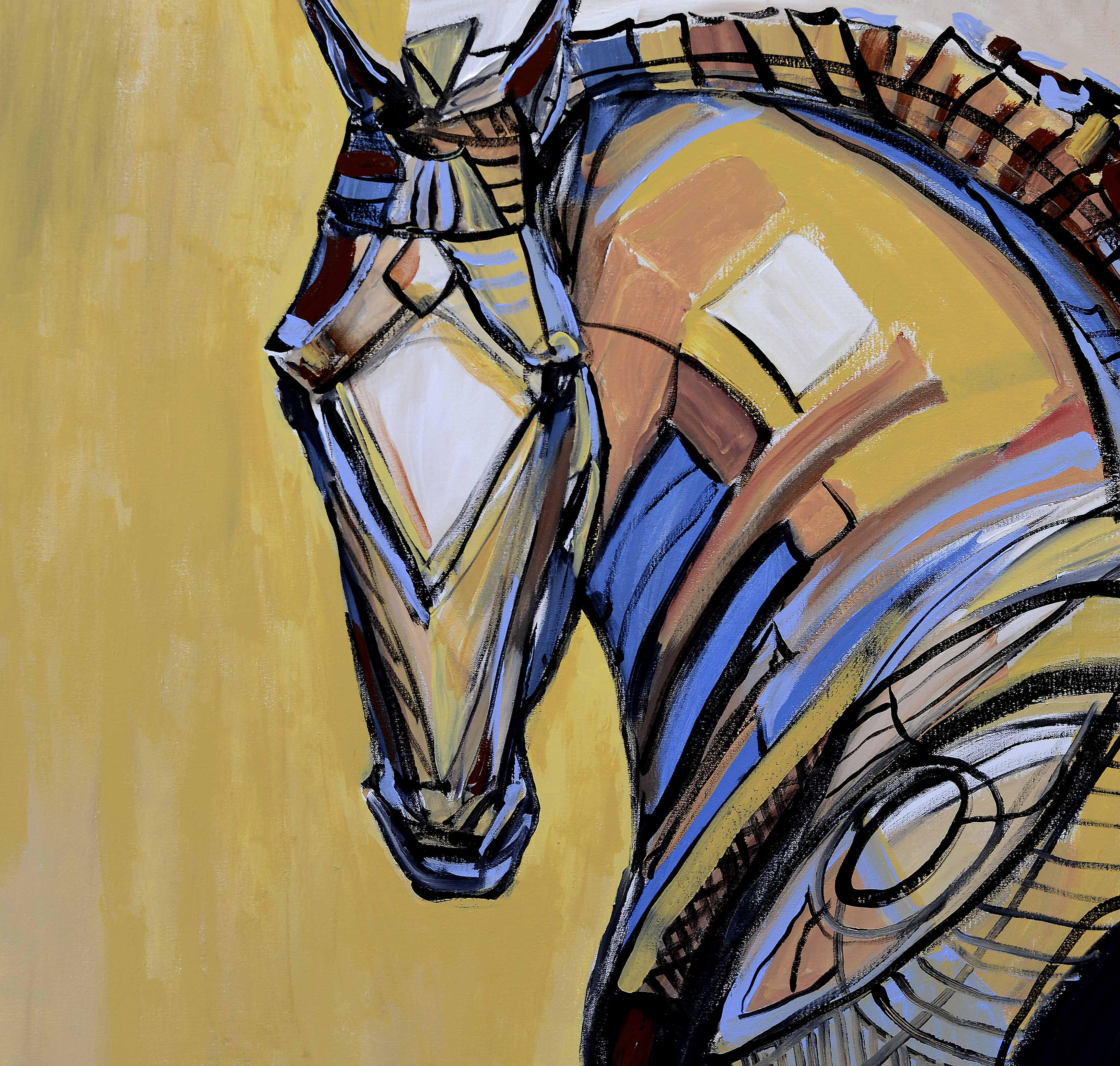 "Geometric Horse 2 - 36"" x 36"""