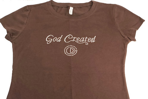 God Created Ladies T-Shirt