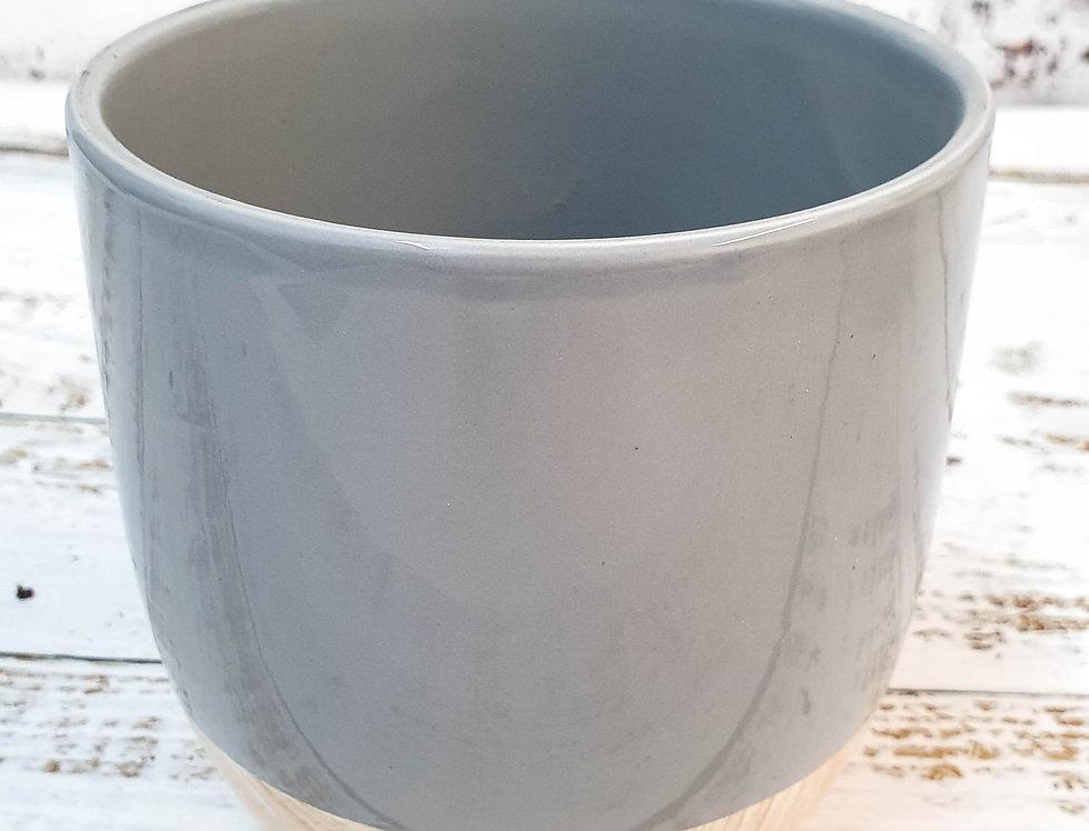 Grey shiny pot