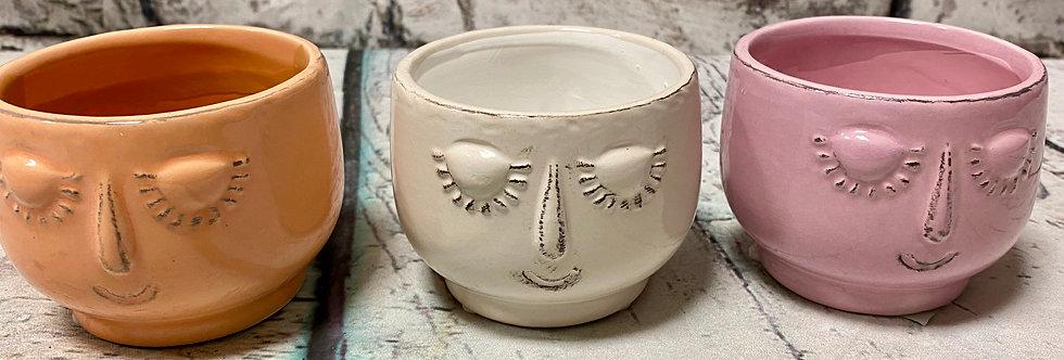 Face small pot