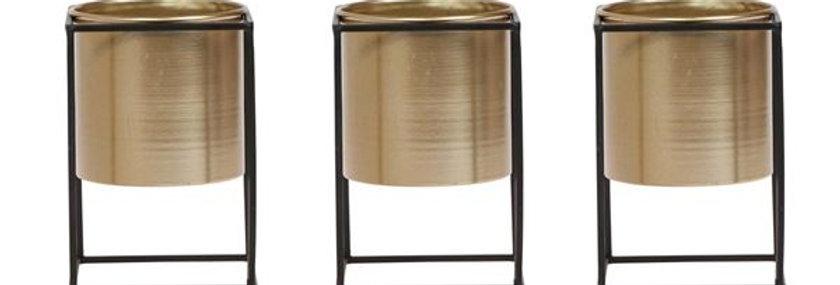 Metal gold plant pot d9cm