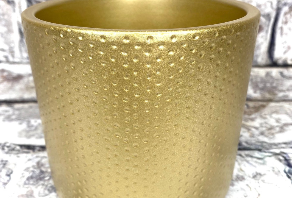 Gold ceramic pot d12