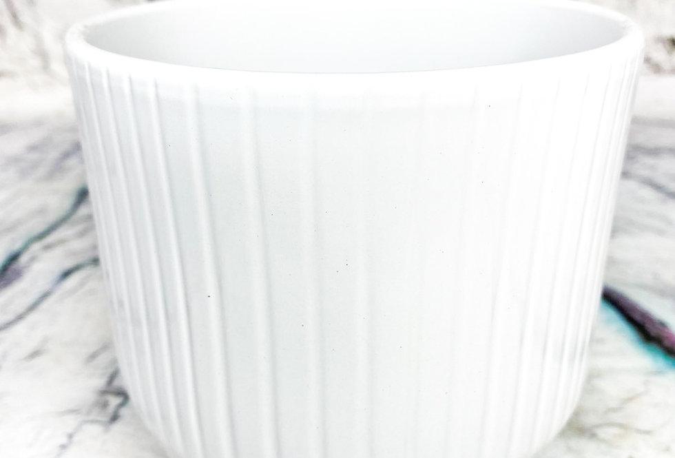 Pot Pisa+lines D13.5xh13.2 Cool Grey