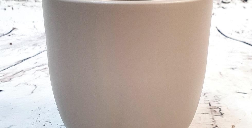 Tusca pot round taupe matt