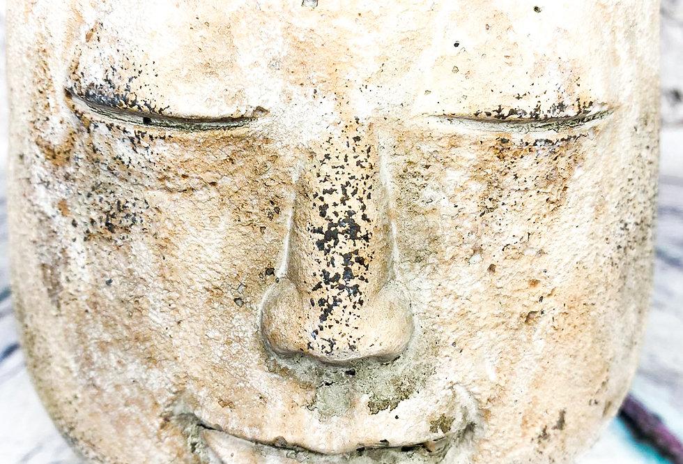 Buddha face pot d14*16cm
