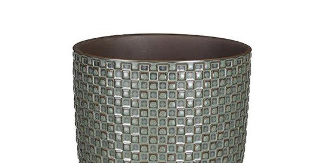 Daan pot round green - h13xd13,5