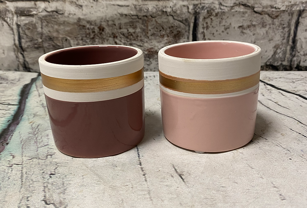 Pink gold small pot