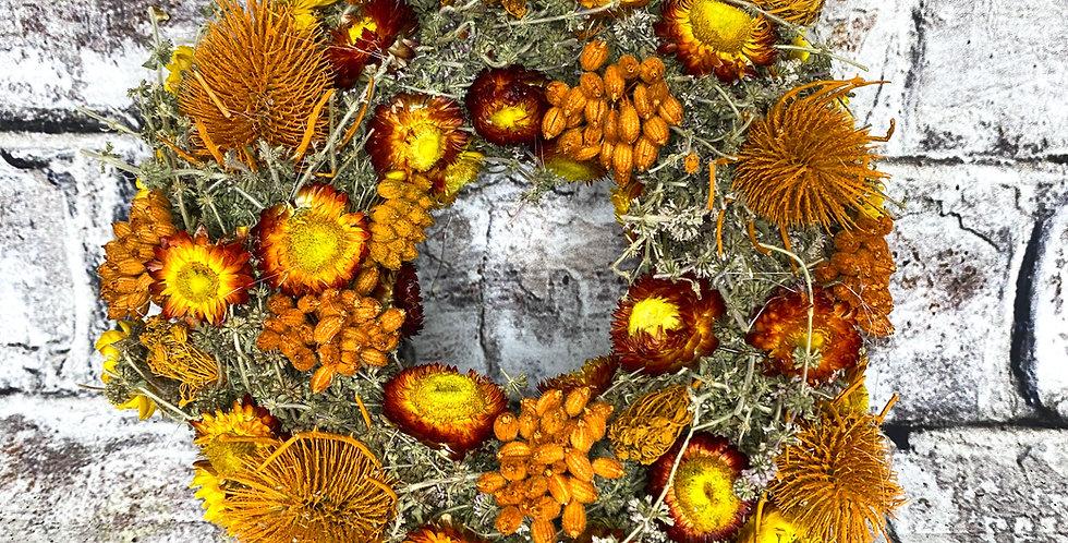 Orange Natural Dry Wreath