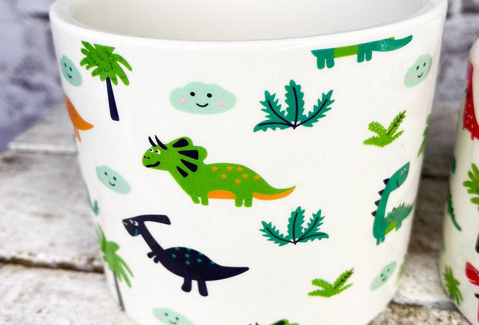 Dino small pot white