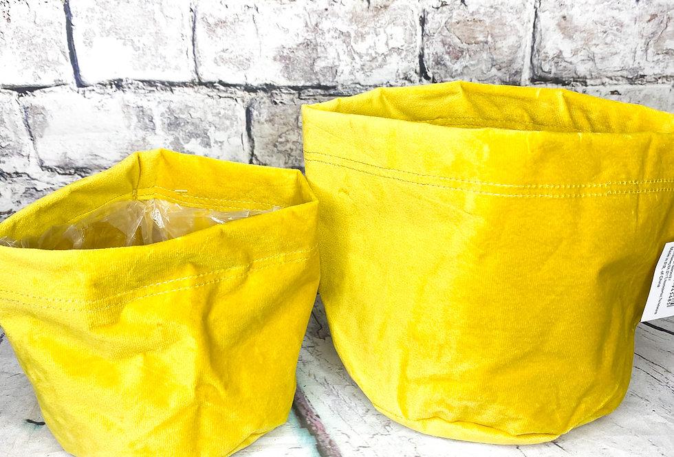 Velvet yellow cover bag
